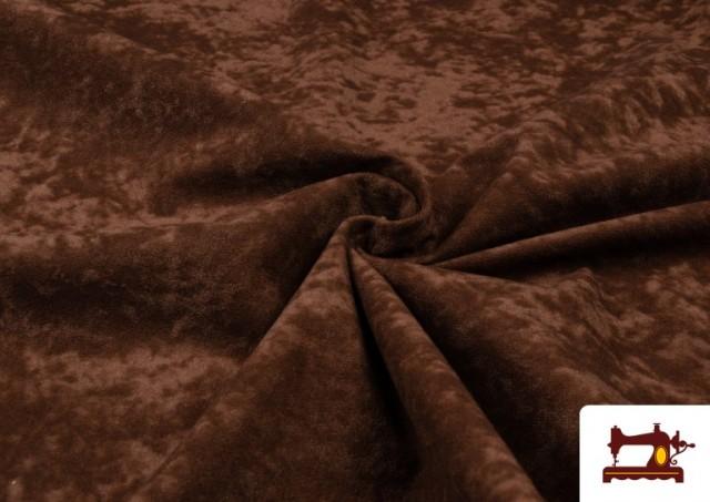 Vente en ligne de Tissu en Daim de Couleurs couleur Brun