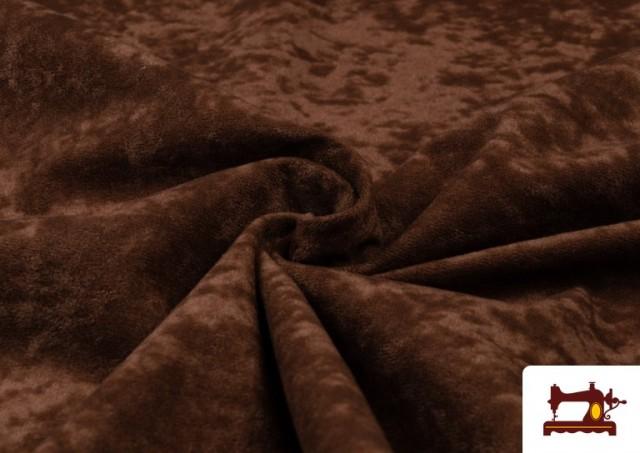 Tissu en Daim de Couleurs couleur Brun