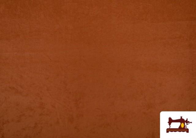 Tissu en Daim de Couleurs couleur Bronzé