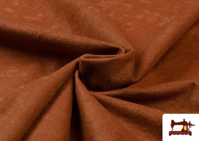 Acheter en ligne Tissu en Daim de Couleurs couleur Bronzé