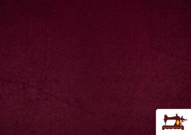 Vente en ligne de Tissu en Daim de Couleurs couleur Grenat