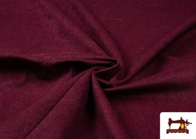Tissu en Daim de Couleurs couleur Grenat