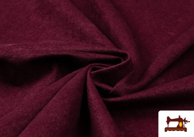 Acheter Tissu en Daim de Couleurs couleur Grenat