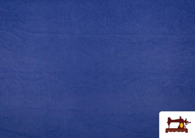 Acheter en ligne Tissu en Daim de Couleurs couleur Gros bleu