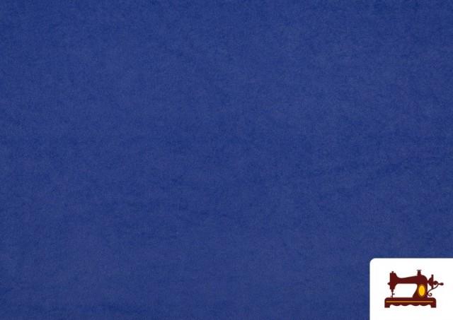 Vente en ligne de Tissu en Daim de Couleurs couleur Gros bleu