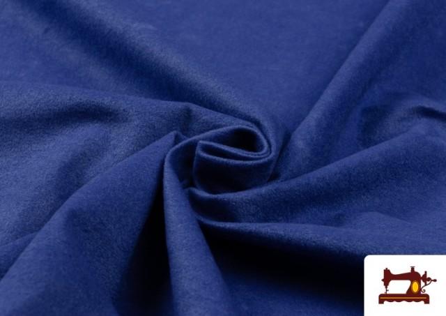 Tissu en Daim de Couleurs couleur Gros bleu