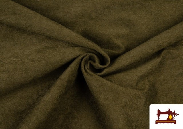 Acheter en ligne Tissu en Daim de Couleurs couleur Kaki