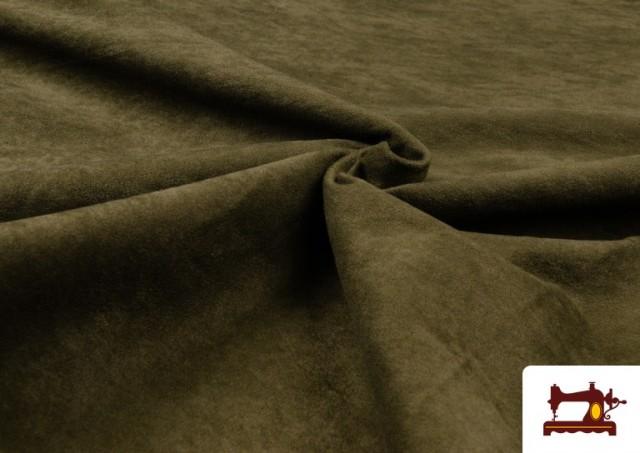Vente en ligne de Tissu en Daim de Couleurs couleur Kaki