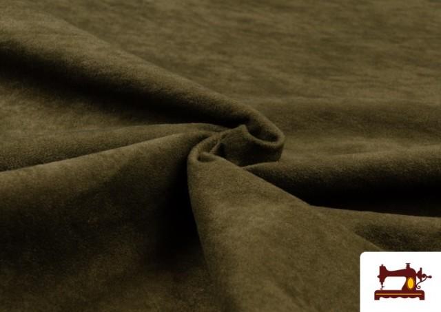 Tissu en Daim de Couleurs couleur Kaki