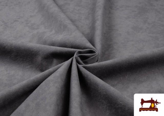 Acheter en ligne Tissu en Daim de Couleurs couleur Gris