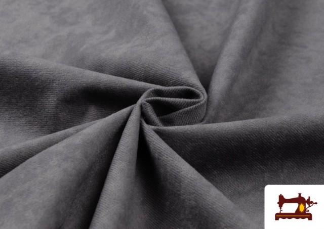 Vente en ligne de Tissu en Daim de Couleurs couleur Gris