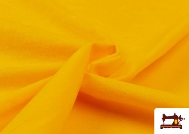 Acheter en ligne Tissu en Daim de Couleurs couleur Jaune