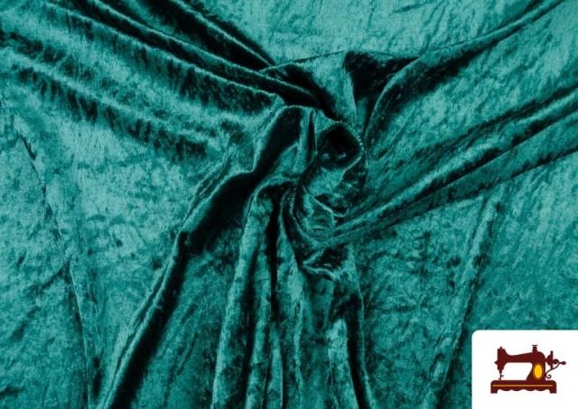 Acheter Tissu en Velours Économique couleur Vert Bouteille