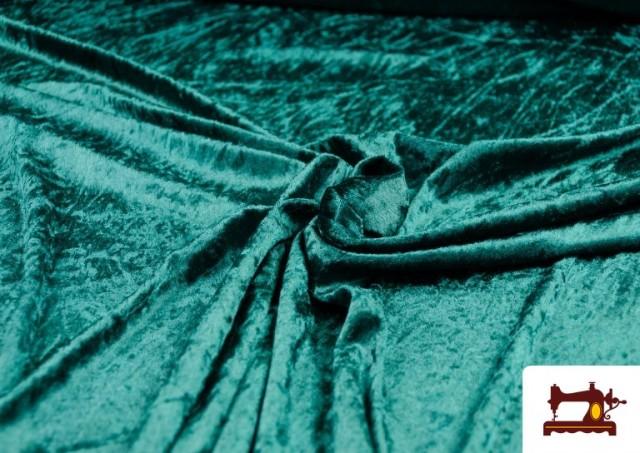 Vente de Tissu en Velours Économique couleur Vert Bouteille