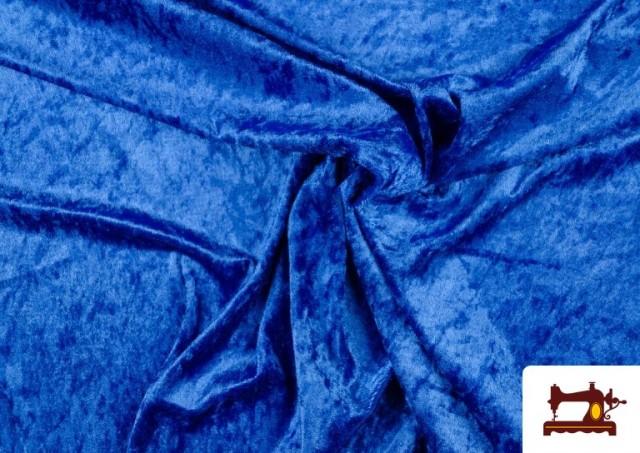 Tissu en Velours Économique couleur Gros bleu