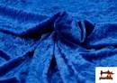Acheter Tissu en Velours Économique couleur Gros bleu