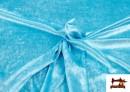 Vente en ligne de Tissu en Velours Économique couleur Bleu