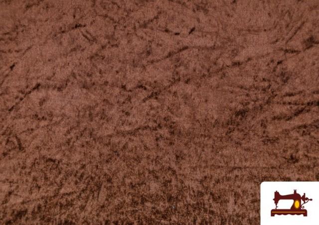 Tissu en Velours Économique couleur Brun