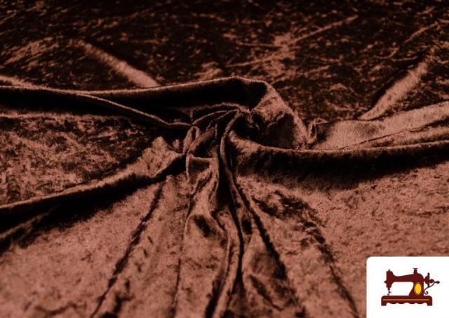 Vente de Tissu en Velours Économique couleur Brun