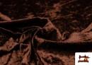 Vente en ligne de Tissu en Velours Économique couleur Brun