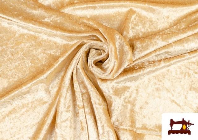 Acheter en ligne Tissu en Velours Économique couleur Champagne