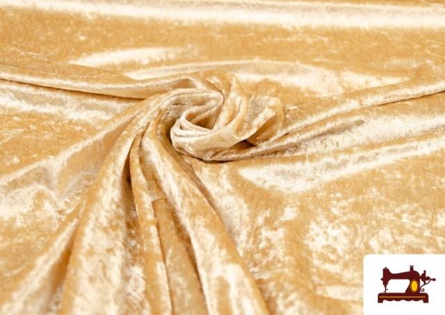 Vente en ligne de Tissu en Velours Économique couleur Champagne