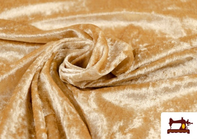 Tissu en Velours Économique couleur Champagne