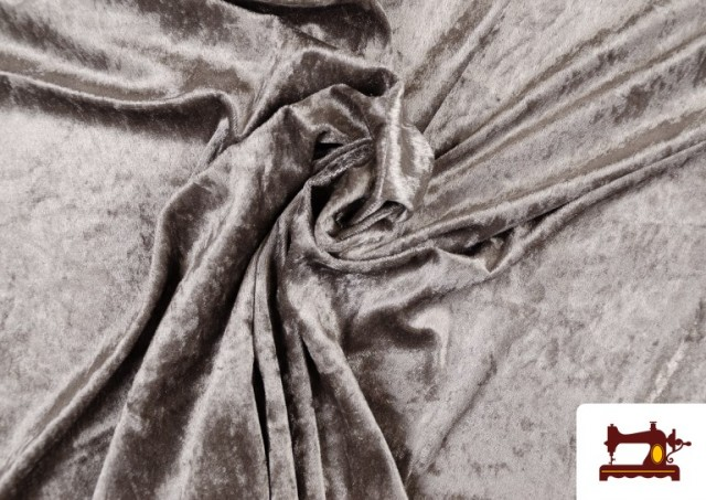Acheter Tissu en Velours Économique couleur Gris