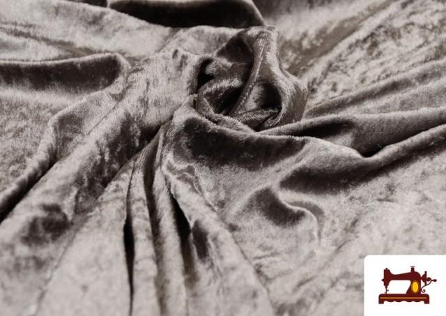Acheter en ligne Tissu en Velours Économique couleur Gris