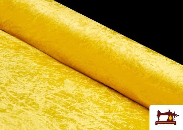 Acheter Tissu en Velours Économique couleur Jaune