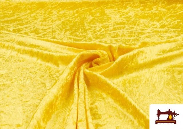 Vente en ligne de Tissu en Velours Économique couleur Jaune