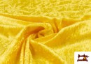 Tissu en Velours Économique couleur Jaune