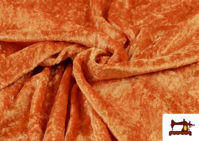 Acheter en ligne Tissu en Velours Économique couleur Orange