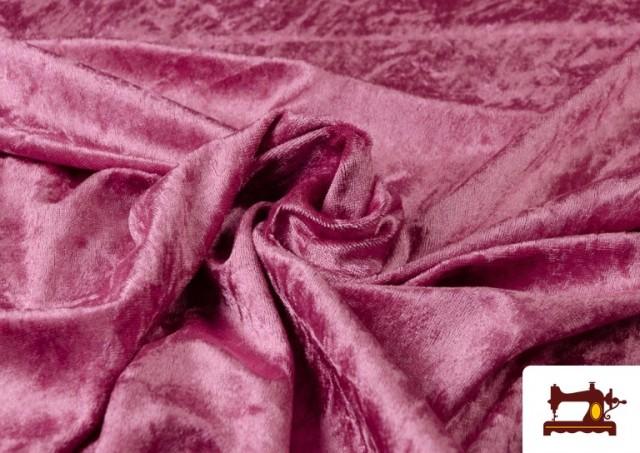 Acheter Tissu en Velours Économique couleur Fuchsia