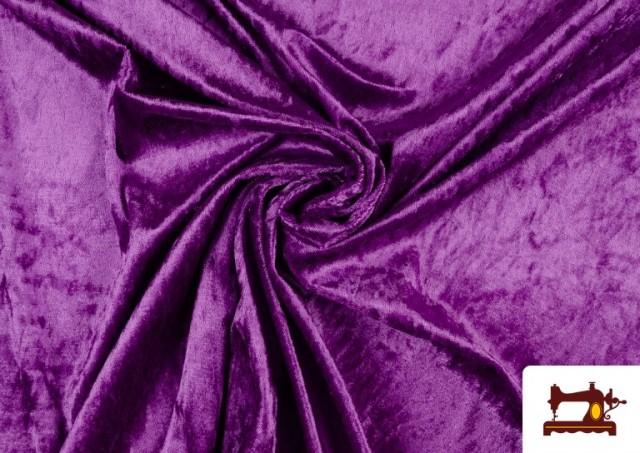 Vente en ligne de Tissu en Velours Économique couleur Violet foncé