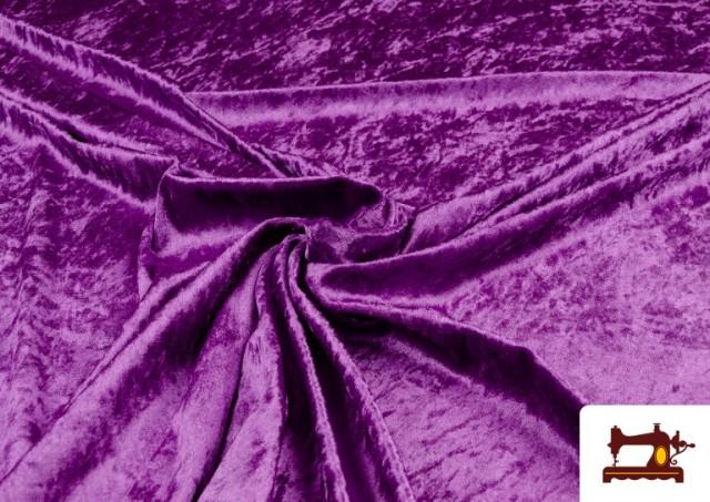 Tissu en Velours Économique couleur Violet foncé