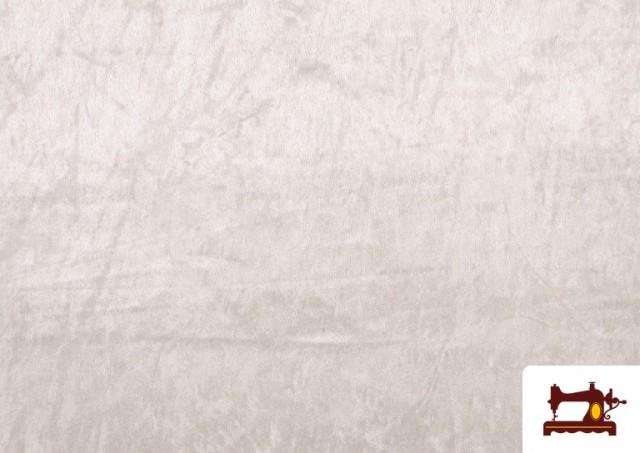 Acheter Tissu en Velours Économique couleur Blanc