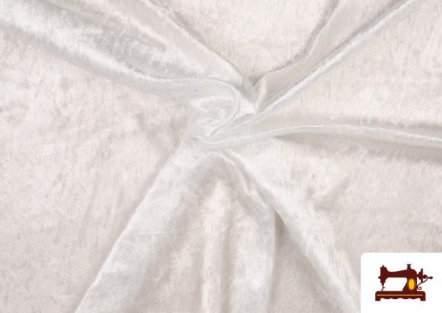 Vente de Tissu en Velours Économique couleur Blanc