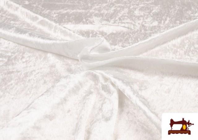 Acheter en ligne Tissu en Velours Économique couleur Blanc