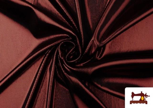 Vente de Tissu en Lamé Économique de Couleurs Metalisées couleur Rouge
