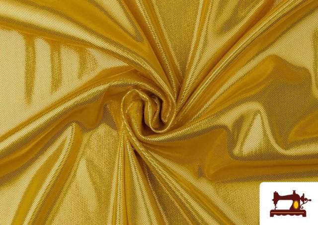 Acheter en ligne Tissu en Lamé Économique de Couleurs Metalisées couleur Doré