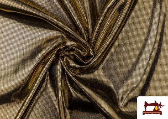 Vente en ligne de Tissu en Lamé Économique de Couleurs Metalisées couleur Champagne