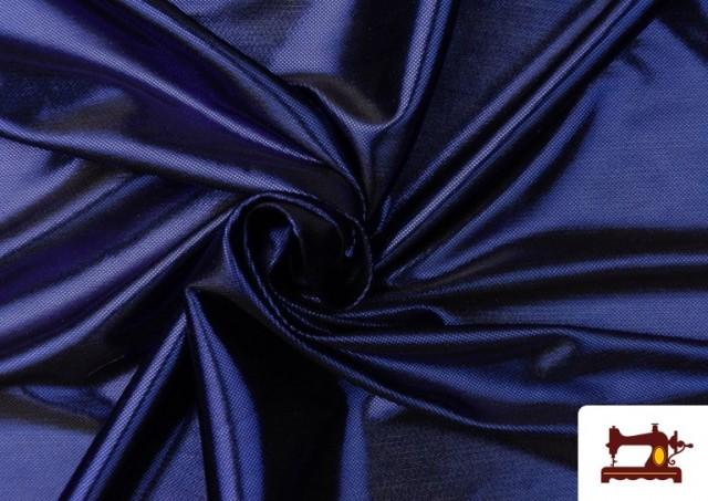 Tissu en Lamé Économique de Couleurs Metalisées couleur Bleu