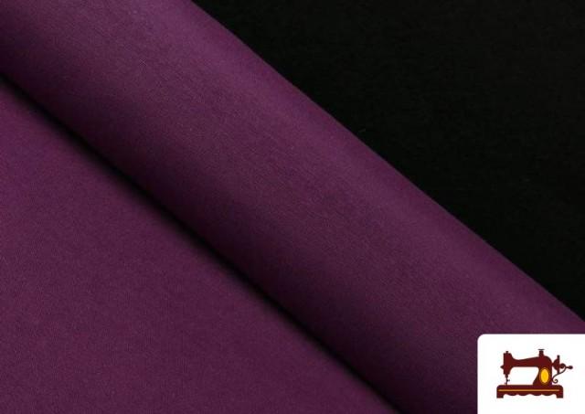 Acheter en ligne Tissu en Canvas de Couleurs couleur Mauve noire