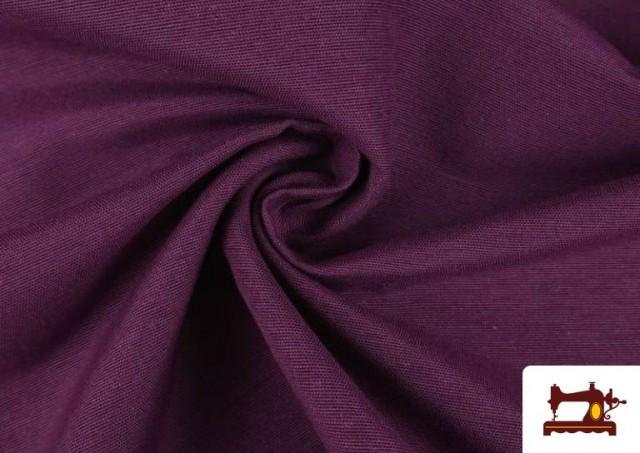 Tissu en Canvas de Couleurs couleur Mauve noire