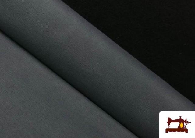 Tissu en Canvas de Couleurs couleur Gris foncé