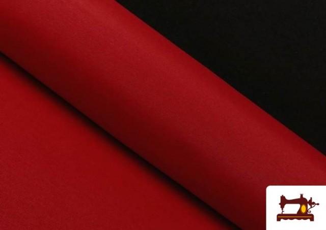 Acheter en ligne Tissu en Canvas de Couleurs couleur Rouge