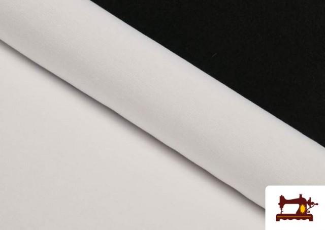 Tissu en Canvas de Couleurs couleur Blanc