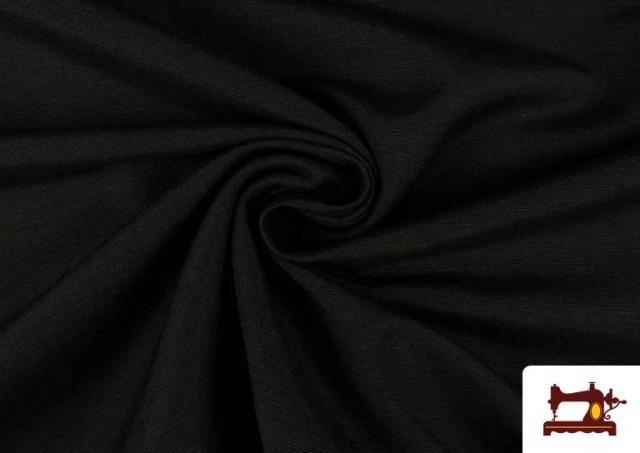 Tissu en Canvas de Couleurs couleur Noir