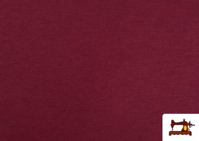 Acheter en ligne Tissu en Canvas de Couleurs couleur Grenat